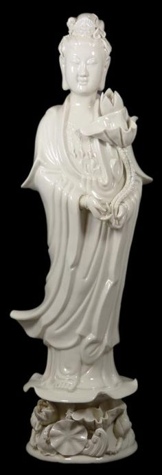 CHINESE BLANC DE CHINE PORCELAIN QUAN YIN FIGURE. Visit Renaissance Fine Jewelry in Vermont or at www.vermontjewel.com. Where New England Gets Engaged!