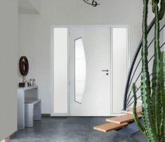 Porte entree aluminium Virgule de couleur blanche Signalisation