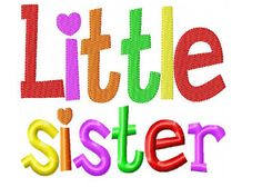 Little Sister Embroidery Design INSTANT by DaisySproutsDesigns, $2.99