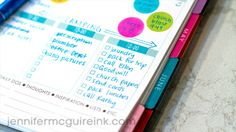 """Waffle Flower """"Stay Focused"""" Blog Hop, Planner Made Simple Video by Jennifer McGuire Ink"""