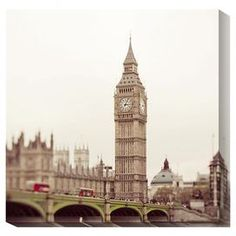 Gallery-wrapped canvas giclee print of London's Big Ben.  Product: Wall artConstruction Material: Cotton canvas and woodFeatures:  Printed with the highest quality pigment inksUV protective coatingArt by Keri Bevan  Cleaning and Care: Clean with water and damp cloth