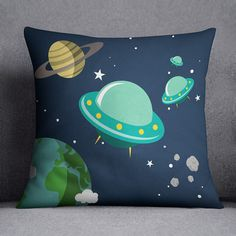 Space pillow cover Universe Astronaut Planet by MyLovelyPillow