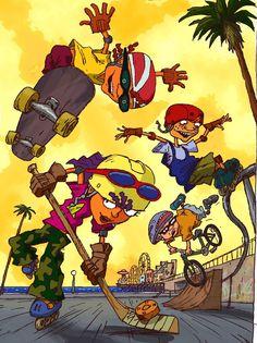 Wallpaper Gamer, Power Wallpaper, Cartoon Wallpaper, Rocket Power, Famous Cartoons, Classic Cartoons, Cartoon Shows, Cartoon Characters, Parkour