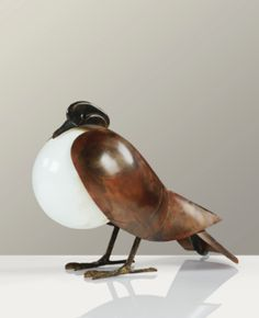 François-Xavier Lalanne - Pigeon lamp