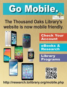 The Thousand Oaks Library's website is now more mobile friendly! Poster designed by Russell Paris - Nov Library Website, Library Programs, Events, Graphic Design, Paris, Check, Poster, Happenings