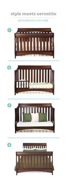 The Delta Bentley crib is a one-time investment that grows with your child.