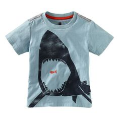 We just love, love, love sharks at my house! My son and my daughter! Would love to someday find a shark shirt in the girls department. From Tea Collection, sizes Baby Boy Shirts, Boys Shirts, Shark Shirt, T Shirt, Dress Shirts, Cool Boys Clothes, Toddler Boys, Infant Toddler, White Tees
