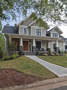 Traditional Exterior Craftsman Style- this is my dream home exterior style. Craftsman doesn't have to mean small!