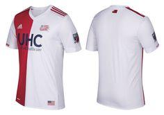 Camisas do New England Revolution 2017 Adidas MLS
