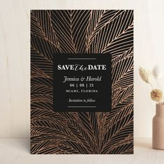 """""""dearly lines"""" - Foil-pressed Save The Date Cards in Ebony by aticnomar. Glitter Wedding, Gold Wedding, Gold Glitter, Save The Date Designs, Wedding Invitation Suite, Foil Stamping, Industrial Wedding, Wedding Website, Wedding Paper"""