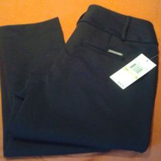 3051c399678 Shop Women s MICHAEL Michael Kors Black size 4 Trousers at a discounted  price at Poshmark.