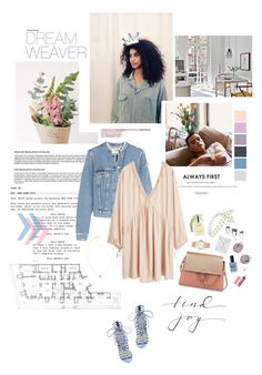 """""""Find joy."""" by sarahstardom ❤ liked on Polyvore featuring Gorjana, Gianvito Rossi, Acne Studios, MANGO, Chloé, River Island, Marc by Marc Jacobs, Dogeared, Lauren B. Beauty and ASOS"""