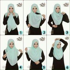How to wear your hijab. Square Hijab Tutorial, Pashmina Hijab Tutorial, Hijab Style Tutorial, Simple Hijab Tutorial, Scarf Tutorial, Muslim Dress, Hijab Dress, Hijab Outfit, Muslim Fashion