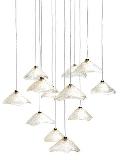 Buy Big Angelic Halo Ceiling Pendant Light by Aya and John Light Creations - Made-to-Order designer Pendants from Dering Hall's collection of Rustic / Folk Industrial Mid-Century / Modern Lighting.