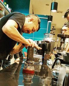 We love to serve who want me serve  #binjai #coffeelover #coffee #espressomachine #espresso #food #hario #instadaily #indonesia #latteart #latte #medan #singleorigins #veterancoffeebinjai http://ift.tt/1VbgBi2