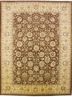 New Pakistan Hand-woven Antique Reproduction of a 19th Century Persian Tabriz Carpet