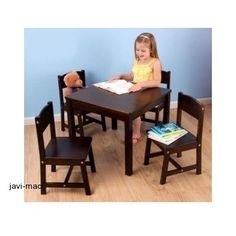 Table And Chair 5 Piece Set Play Children Wood KidKraft Farmhouse Playing Games