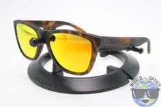 Oakley FROGSKINS Sunglasses 24-416 Matte Brown Tortoise w/ Fire Iridium Lens (B)
