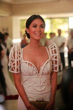 Maria Clara gown inspired Skeletal Terno Sleeves by Carey Santiago
