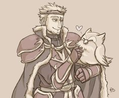 Even Zephiel can't resist our precious ball of floof : FireEmblemHeroes