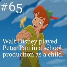 AHHHHHHHHH!!!!!!!!!!!! Is this true? I mean I was under the impression that most stage versions had peter pan played by a girl and that Disney's version was the first to  have a boy play the part. But I will gladly admit I have been wrong if this fact is true!