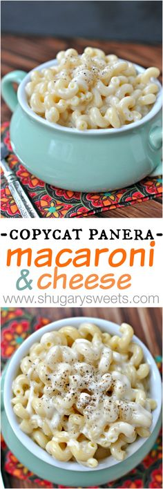 Copycat Panera Macaroni and Cheese - Shugary Sweets #recipe