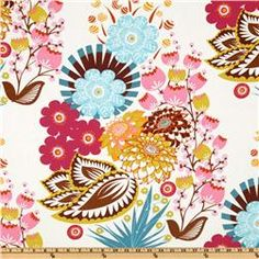 "Anna Maria Horner's LouLouThi Collection; Summer Totem in Tart \ $9 per yard \ 44"" Wide \\ 100% Cotton Quilting Weight"