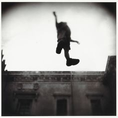 Doyle NY Lot 28   CARTER, KEITH (b. 1948)   Levitation. Gelatin silver print, 15 1/4 x 15 1/4 inches (385 x 385 mm), verso pencil signed, dated 2001, titled and numbered 20 from the edition of 35. Framed.