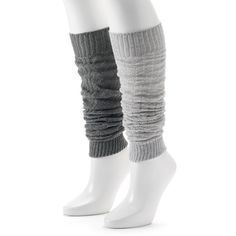 Women's Unionbay 2-pk. Knit Leg Warmers ($17) ❤ liked on Polyvore featuring intimates, hosiery, multicolor, unionbay, colorful leg warmers and knit leg warmers