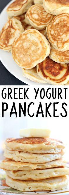 greek yogurt pancake will def make again! Ww Recipes, Brunch Recipes, Breakfast Recipes, Cooking Recipes, Healthy Recipes, Brunch Food, Sunday Brunch, Easy Cooking, Dinner Recipes