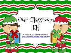 Classroom Elf Journal for Elf on the Shelf!