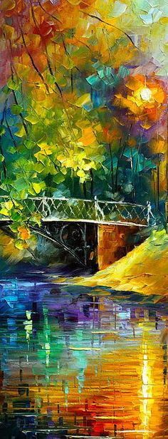Leonid Afremov - I love his use of color and how he can convey detail with such broad brushstrokes.