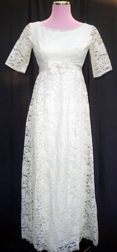 Sweet Vintage 60s Empire Waist White Lace by localovespirate, $145.00