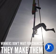You make your own luck. Make Your Own, Make It Yourself, How To Make, Pole Vault, Track And Field, Vaulting, Learning, Quotes, Quotations