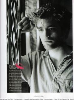Robert Pattinson-a study in perfection :-)