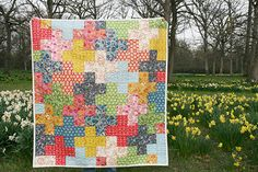 AMH Little Folks Voile - Add it Up Quilt Front by Fresh Lemons : Faith, via Flickr