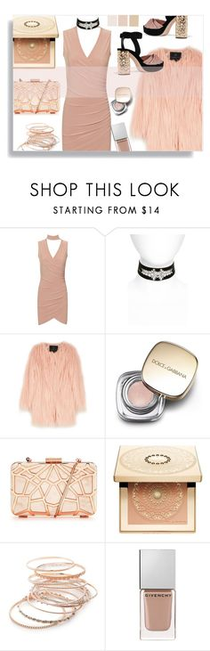 """#33"" by idonthavebrains ❤ liked on Polyvore featuring WearAll, Topshop, Unreal Fur, Dolce&Gabbana, Clarins, Red Camel, Givenchy, Miu Miu and chokerdress"