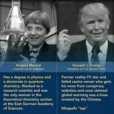 Merkel has a degree in physics and a doctorate in Quantum Chemistry. Satire, Research Scientist, Religion, Reality Tv Stars, Political Views, Political Issues, Thats The Way, Chemistry, Einstein