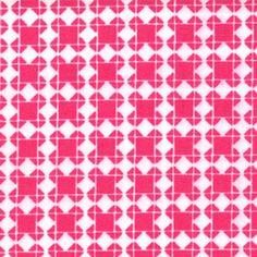 Tic Tac Check Spectrum Fuchsia ~ Quilt Block