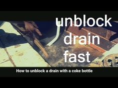 how to unblock a drain. how to unblock a drain ( plastic soda bottle) Blocked drains are a nightmare and the stench is so unbearable. Soda Bottles, Plastic Bottles, Empowerment Program, Coke, Teaching, Youtube, Projects, Pet Plastic Bottles, Coca Cola