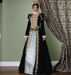 Making History Renn Faire Costume - Renaissance Queen Dress Sewing Pat – WeSewRetro