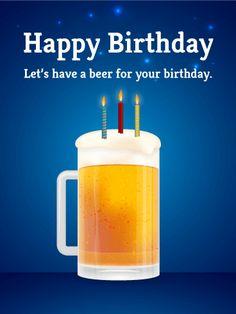 Birthday Beer eCard