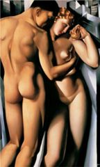 Tamara de Lempicka, Adam and Eve,  ca. 1932, oil o/canvas
