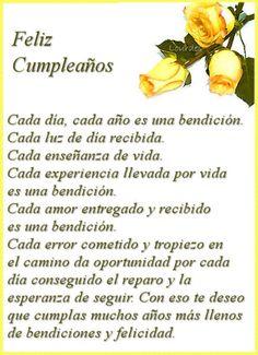 Happy Birthday Quotes In Spanish Frases Ideas Happy Birthday Celebration, Happy Birthday Wishes Cards, Happy Wishes, Birthday Wishes Quotes, Birthday Greeting Cards, Happy Birthday In Spanish, Happy Birthday Pictures, Birthday Images, Birthday Poems
