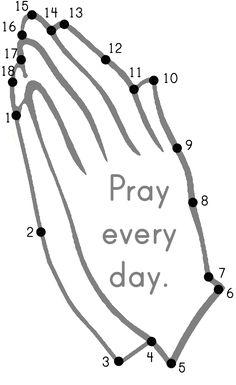 Praying Hands Dot-to-Dot