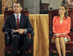 MYROYALS &HOLLYWOOD FASHİON:  Crown Prince Felipe and Crown Princess Letizia attended the Prince de Viana Award 2014 at the San Salvador de Leyre Monastery in Navarra, June 4, 2014