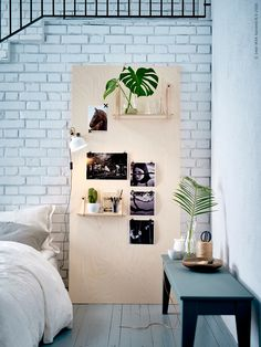 the bedroom display in plywood