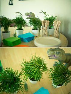 Dinosaur fiesta de cumpleaños temática