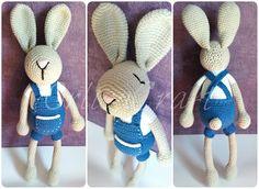 gratis free:01. Króliczek w ogrodniczkach PL  Bunny in dungarees ENG PL:  Hej! Na dobry początek chciałabym Wam przedstawić króliczka w ogrodniczkach którego robiłam na podstawie zdjęcia innej pracy trochę zmodyfikowałam go oczywiście po swojemu.
