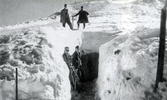 WW1 In Pictures — ww1inpictures: Entryway to the trenches at Ortler...